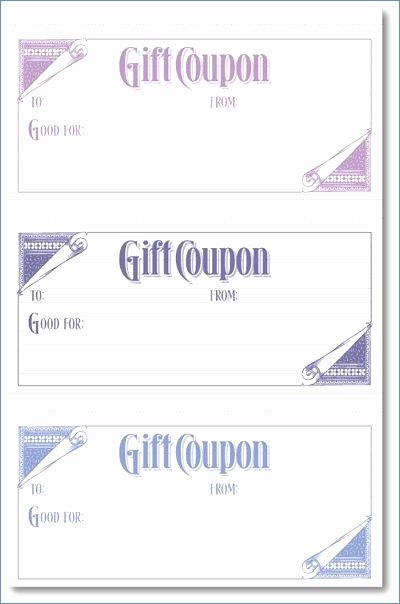 Gift Certificate Template Google Docs