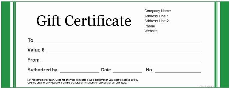 Gift Certificate Template Google Docs