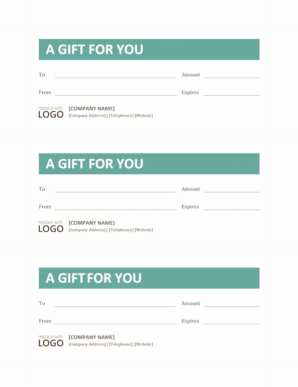 Gift Certificate Template Microsoft Word Template for Word