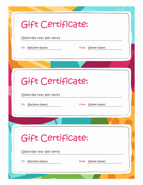 Gift Certificate Template Word 2013 Free Certificate