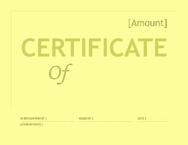 Gift Certificate Template Word 2016 Free Certificate