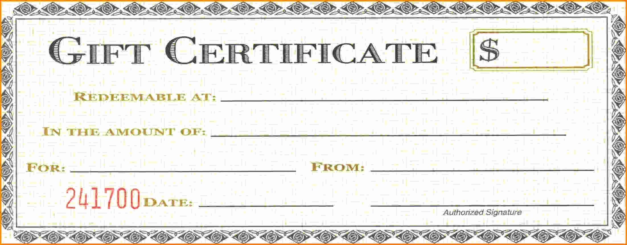 Gift Certificate Template Word