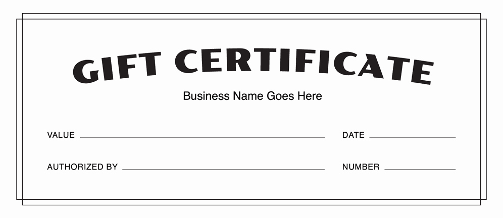 Gift Certificate Templates Download Free Gift