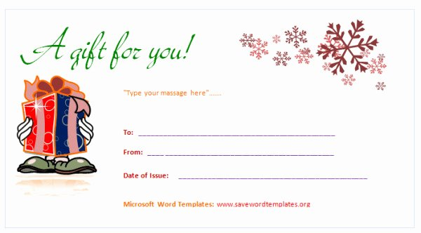 Gift Certificate Templates for Word