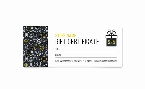 Gift Certificate Templates Microsoft Word & Publisher