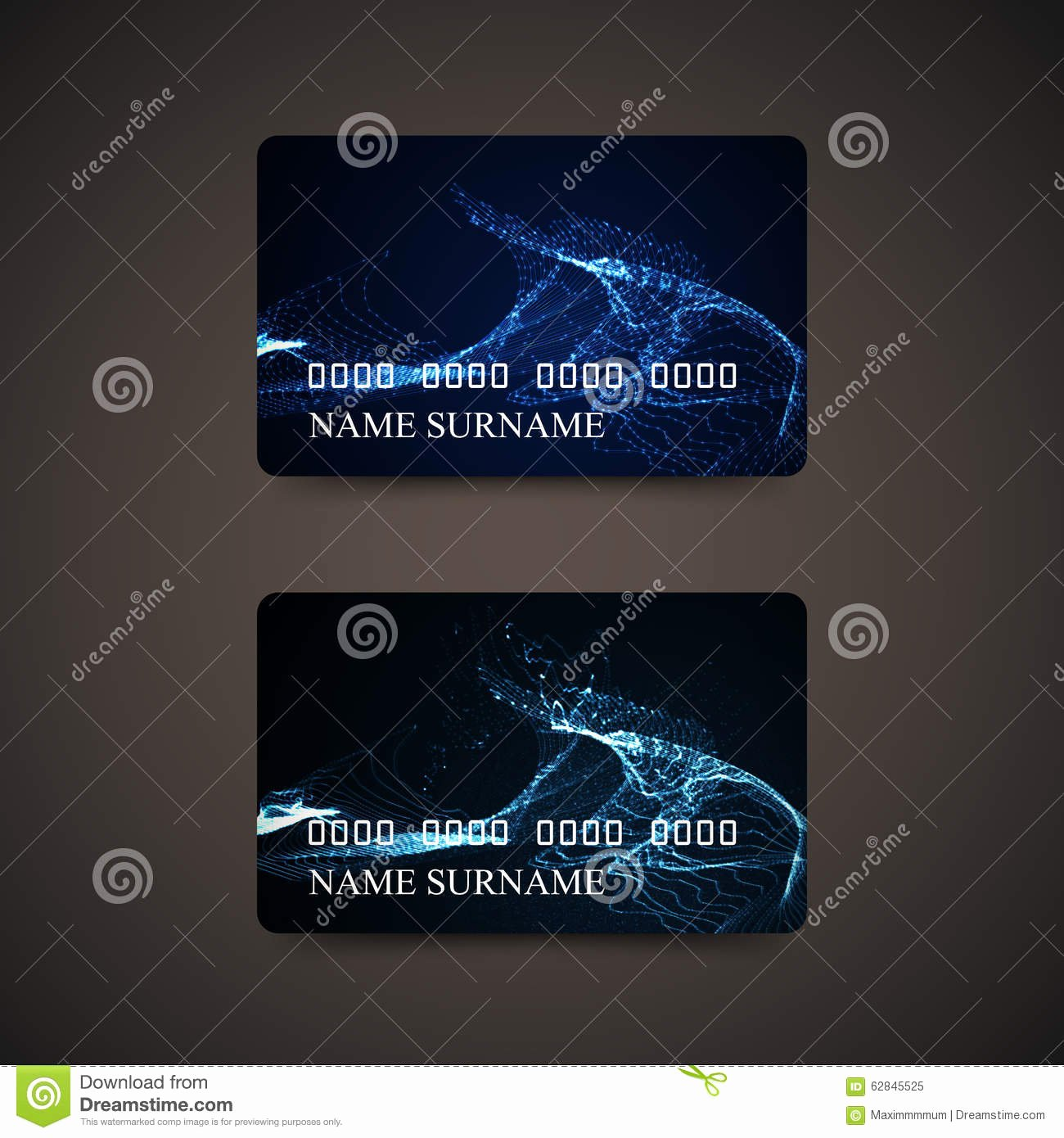 stock illustration t credit card design template cards abstract digital wave particles vector illustration image