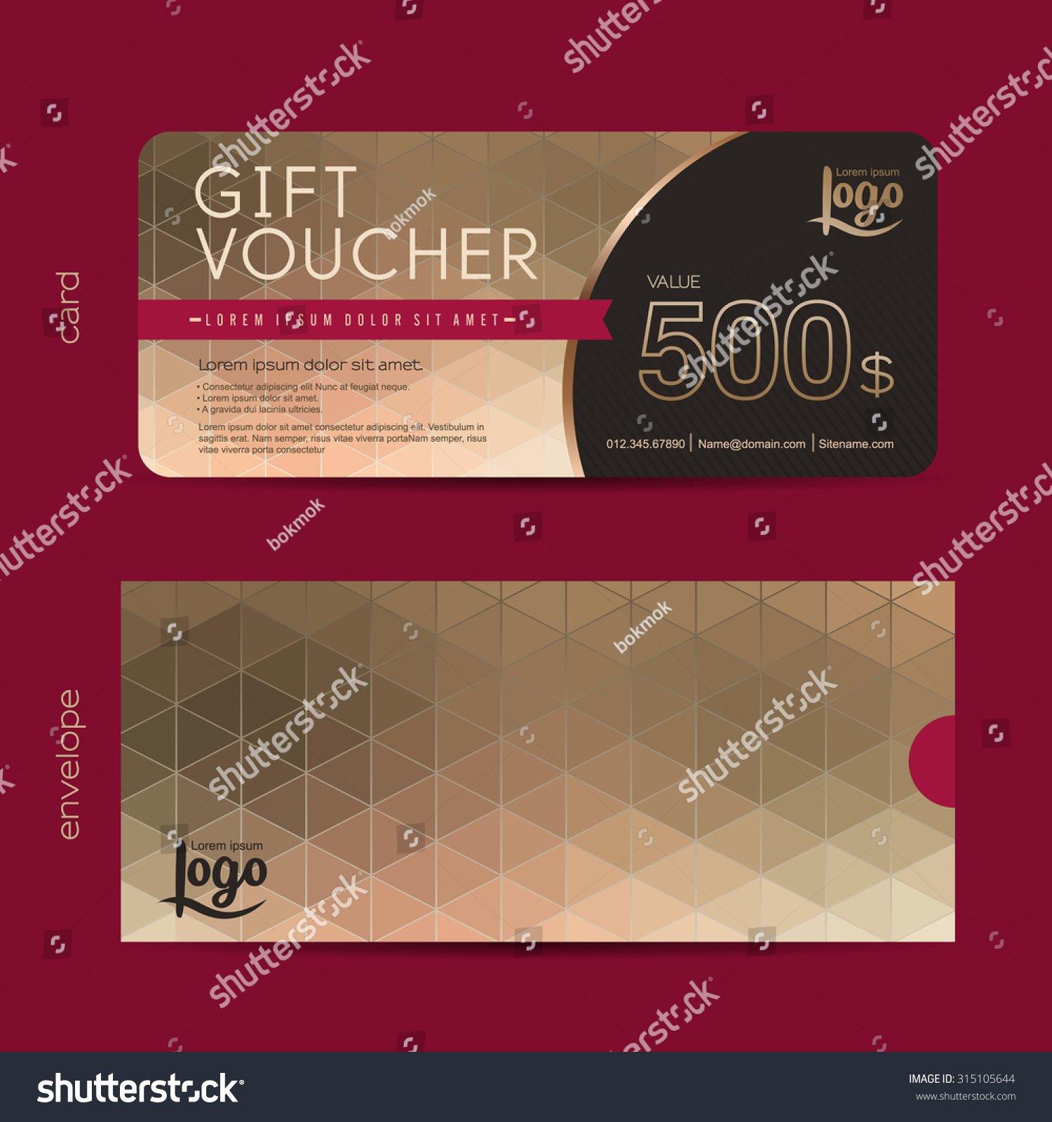 Gift Voucher Template Premium Pattern T Voucher Stock
