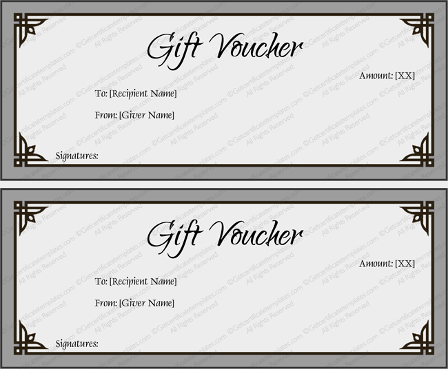 Gift Voucher Template Simplay Gray and Beautiful Design