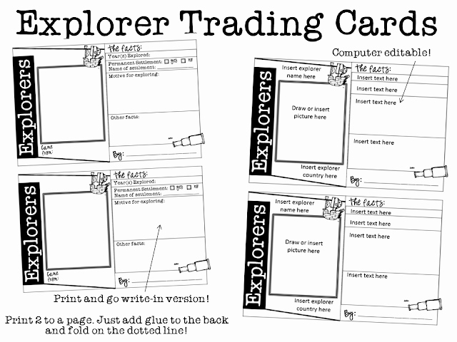 Ginger Snaps Explorers Trading Cards