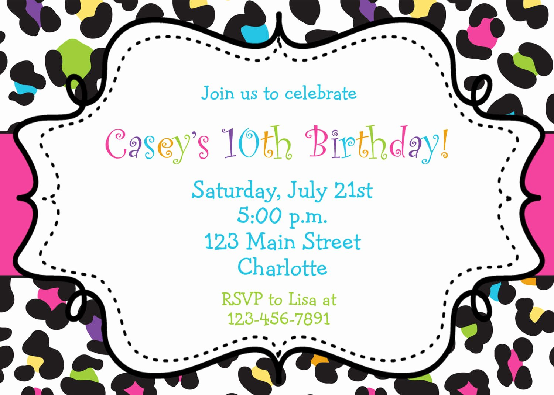 Girl Birthday Invitations Template