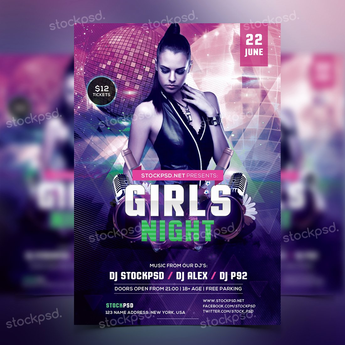 Girls Night Party Free Psd Flyer Template Flyers and