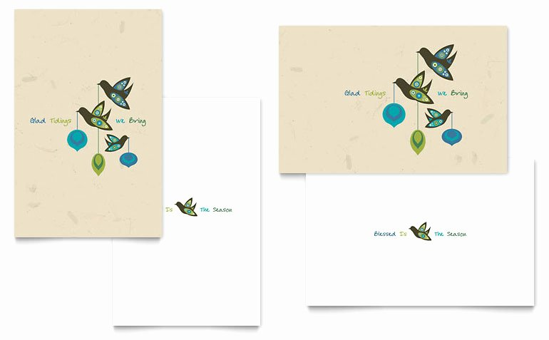 Glad Tidings Greeting Card Template Word & Publisher