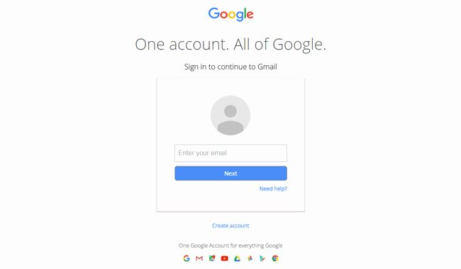 Gmail Style Login Page Design Using HTML and Css
