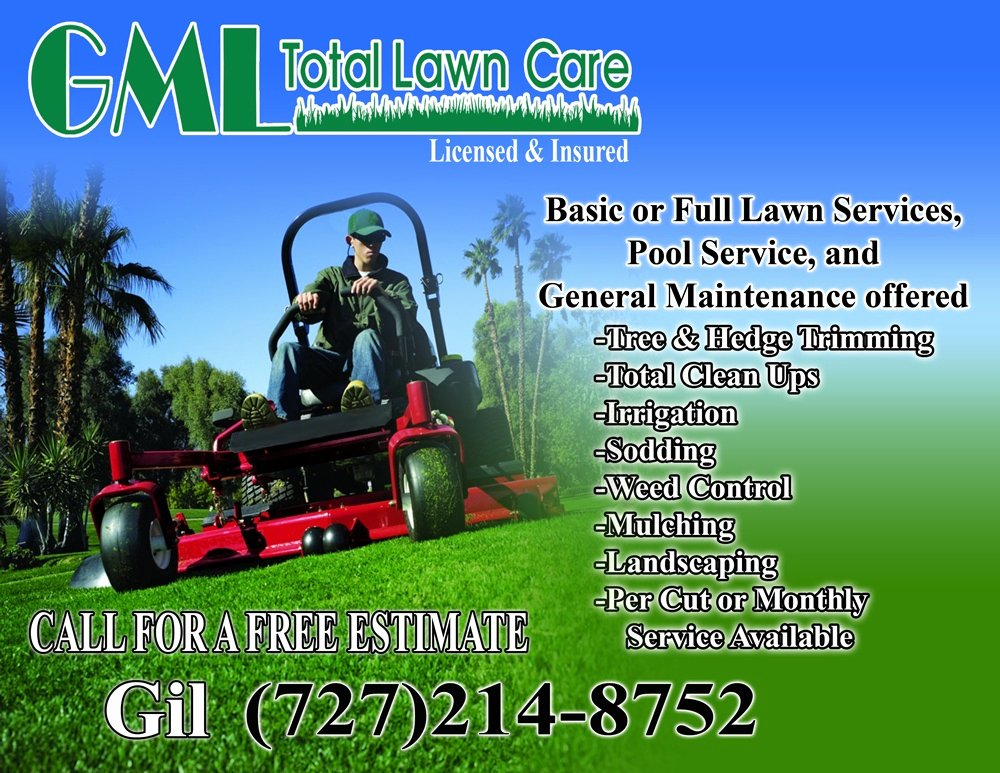Gml total Lawn Care Flyer Gml total Lawn Care