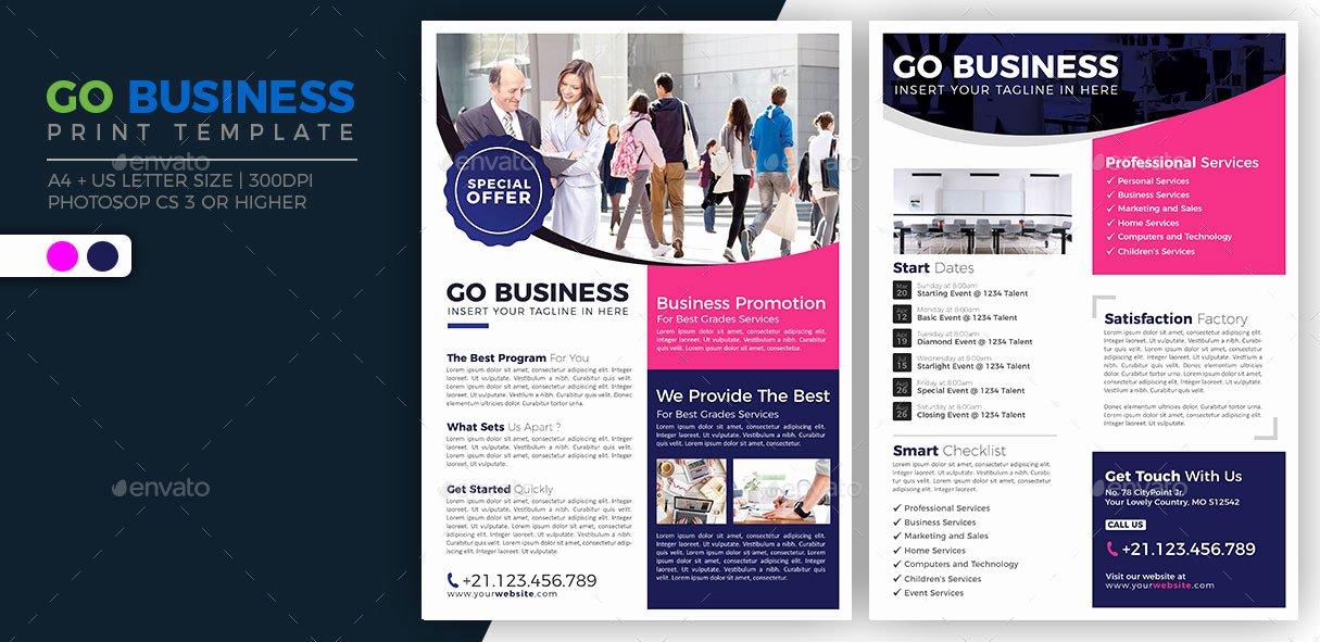 Go Business Double Sided Flyer by Jumpjazz