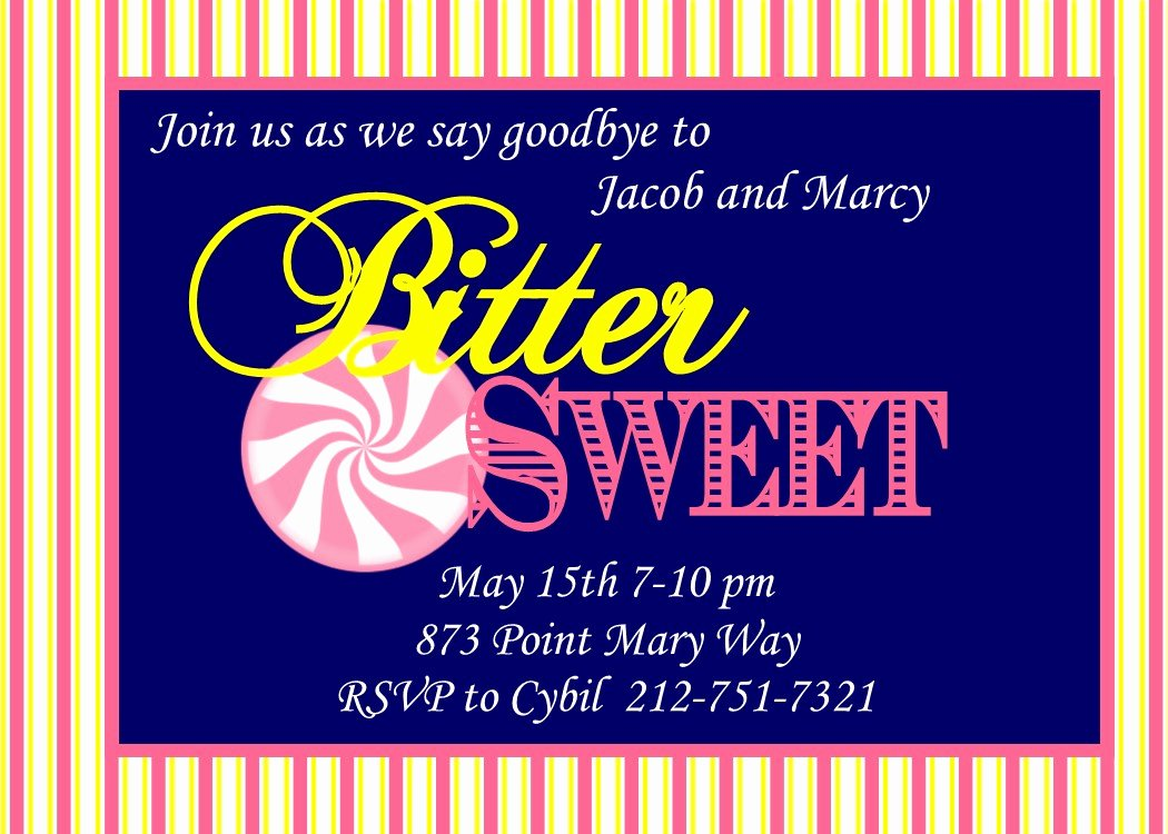 Going Away Party Invitations New Selections 2017