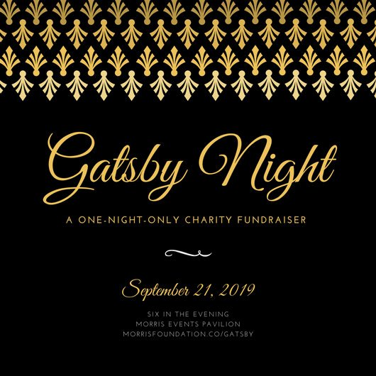 Gold Black Elegant Great Gatsby Night Fundraiser