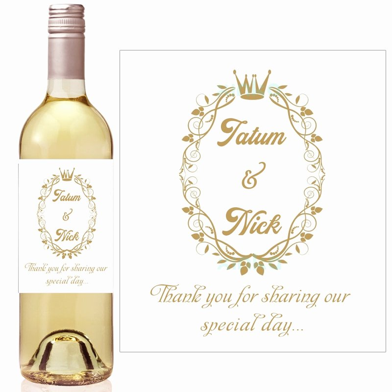 Gold Crown Royal Baby Shower Wine Bottle Labels Hydrangea