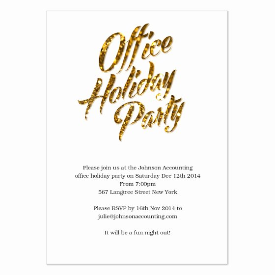 Gold Sparks Fice Holiday Party Invitations & Cards On
