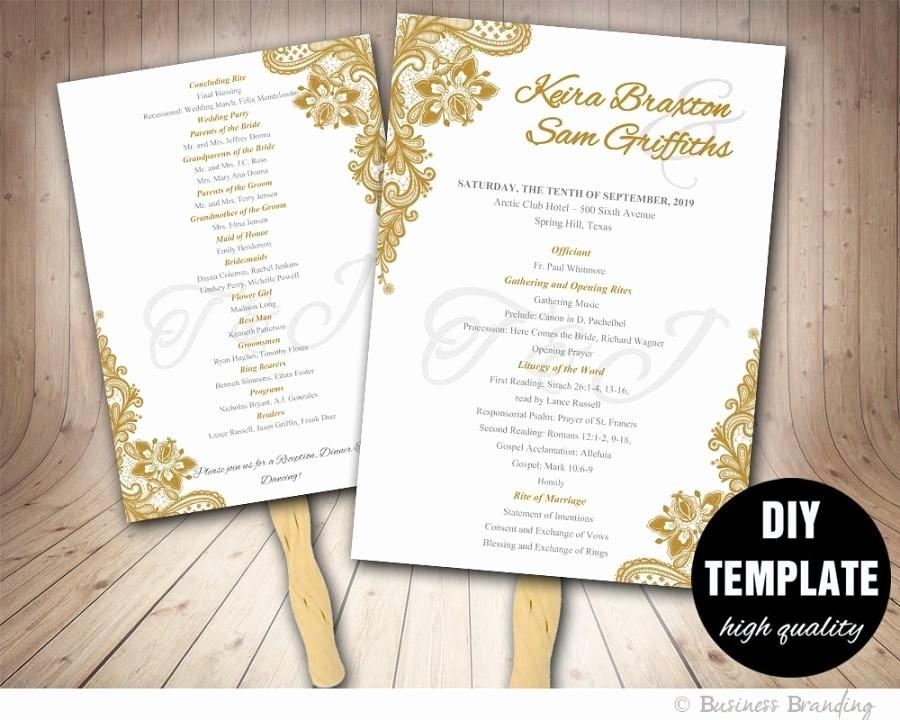 Diy Catholic Wedding Programs Catholic Program Templates Ms
