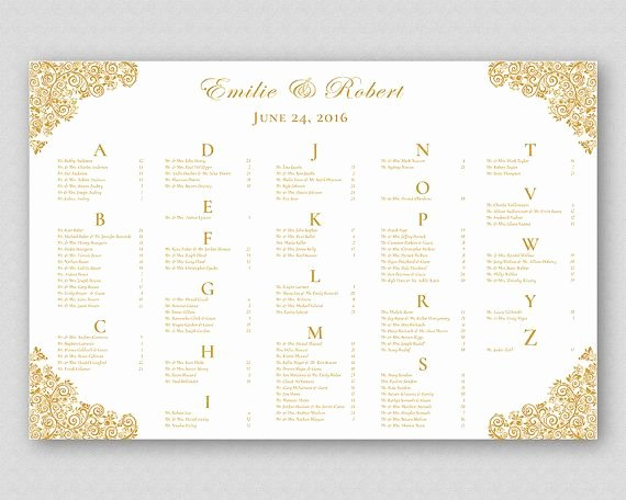 Gold Wedding Table Seating Plan Sign Poster Board