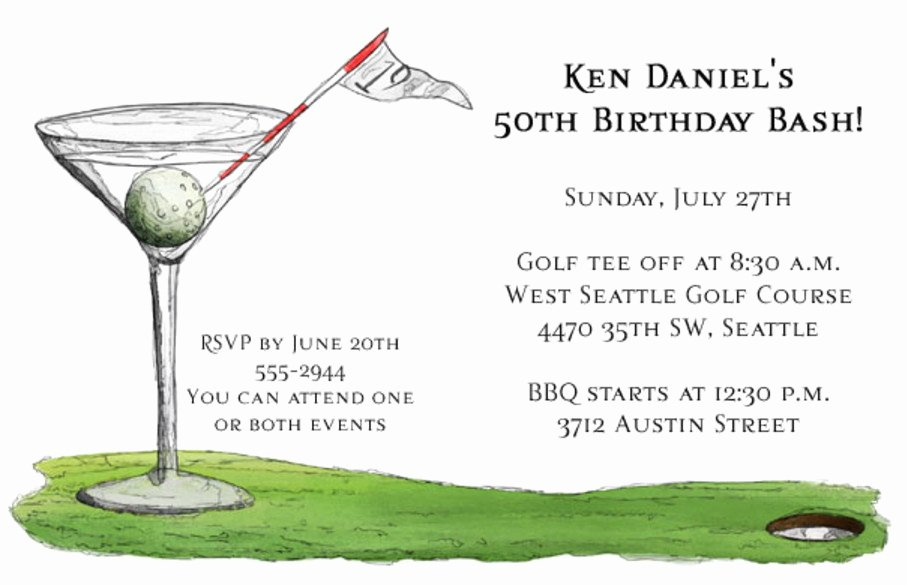 Golf Birthday Party Centerpieces