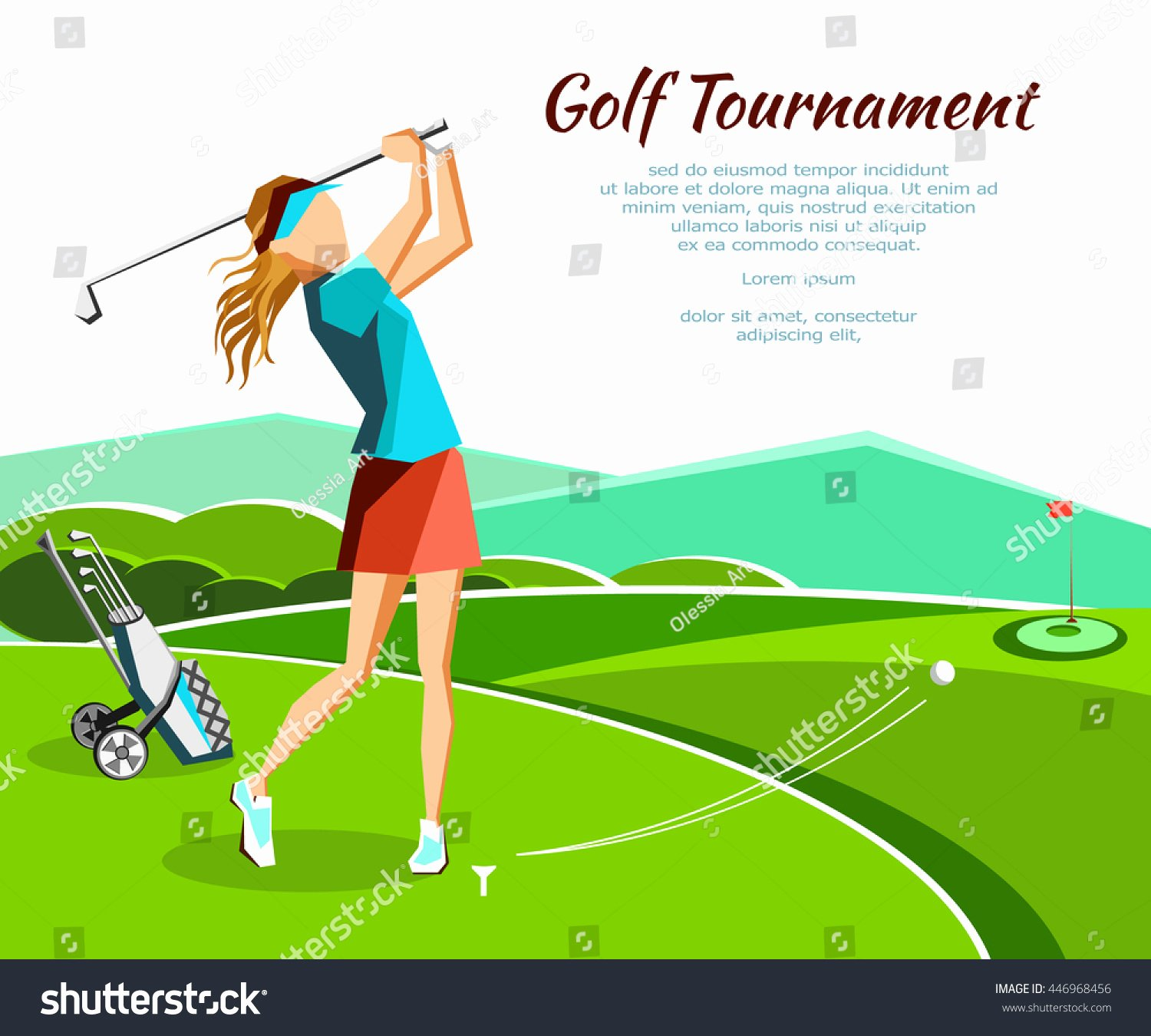 Golf Club Petition tournament Banner Poster Stock