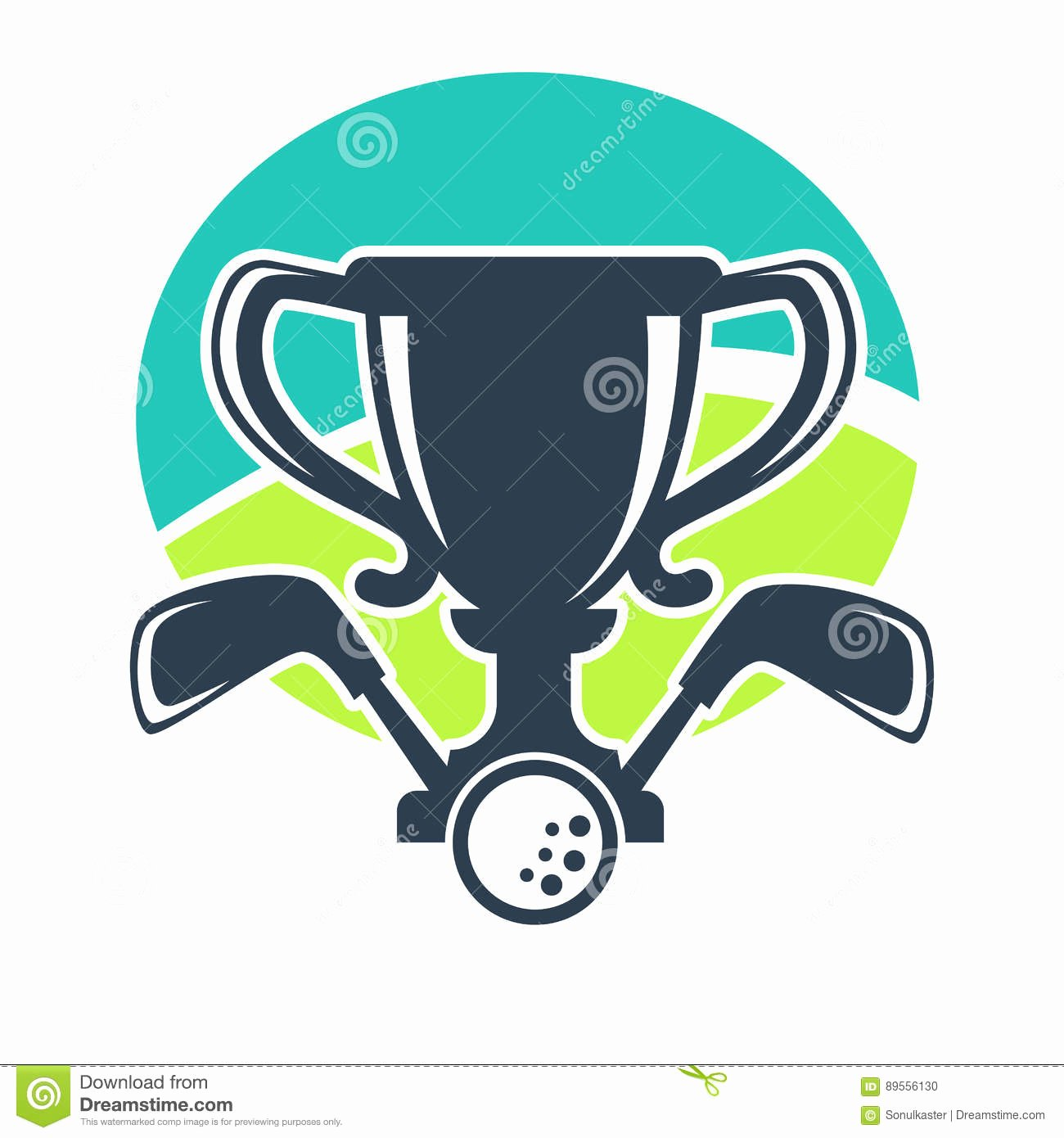 Golf Club tournament Award Cup Vector Icon Stock Vector