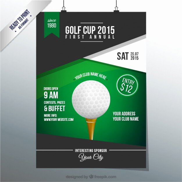 Golf Cup Poster Vector