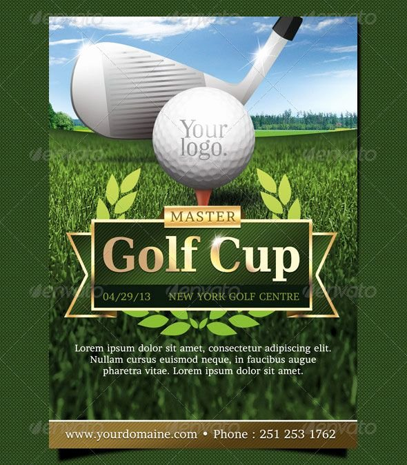 Golf event Flyer Template Design Graphic