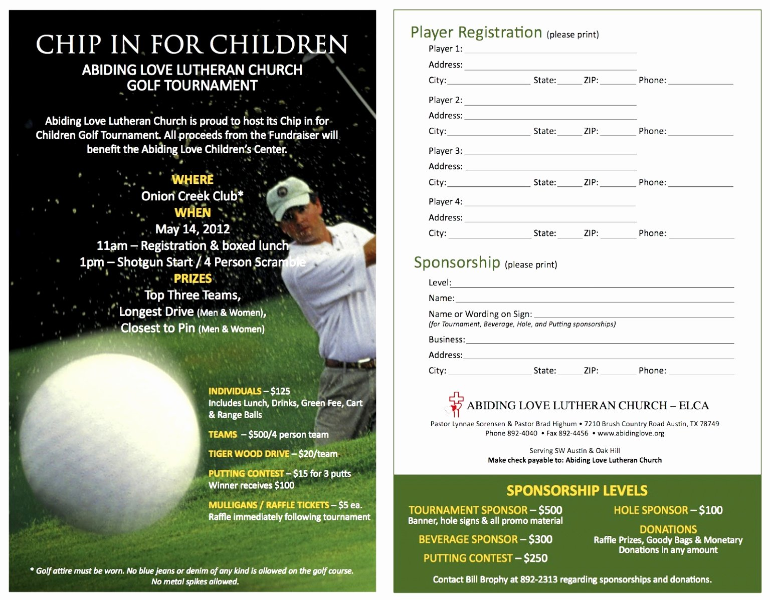 Golf Outing Template Celowithjo