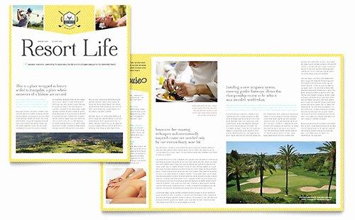 Golf Resort Rack Card Template Design