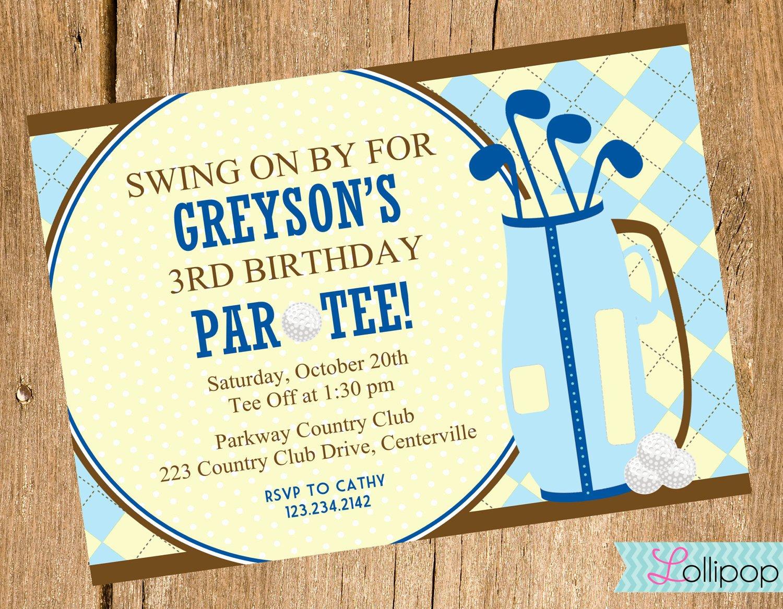 Golf themed Birthday Invitations Ideas – Bagvania Free