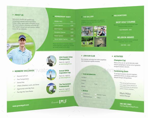 golf tournament brochures