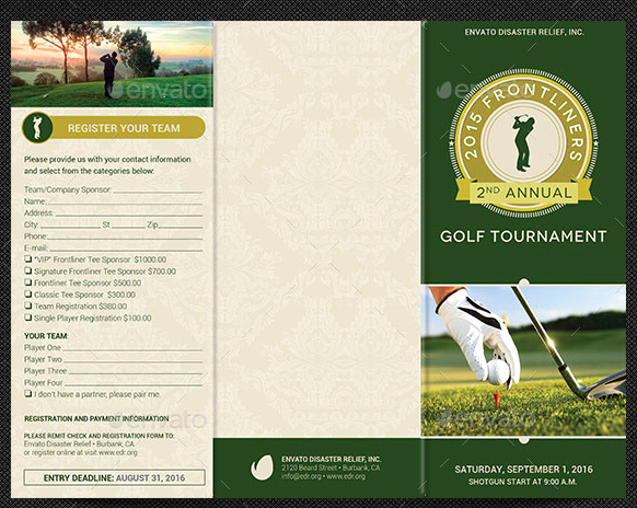 Golf tournament Brochures Renanlopes