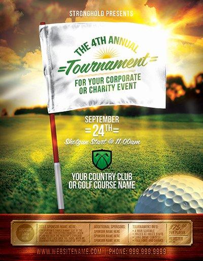 Golf tournament event Flyer Template On Behance