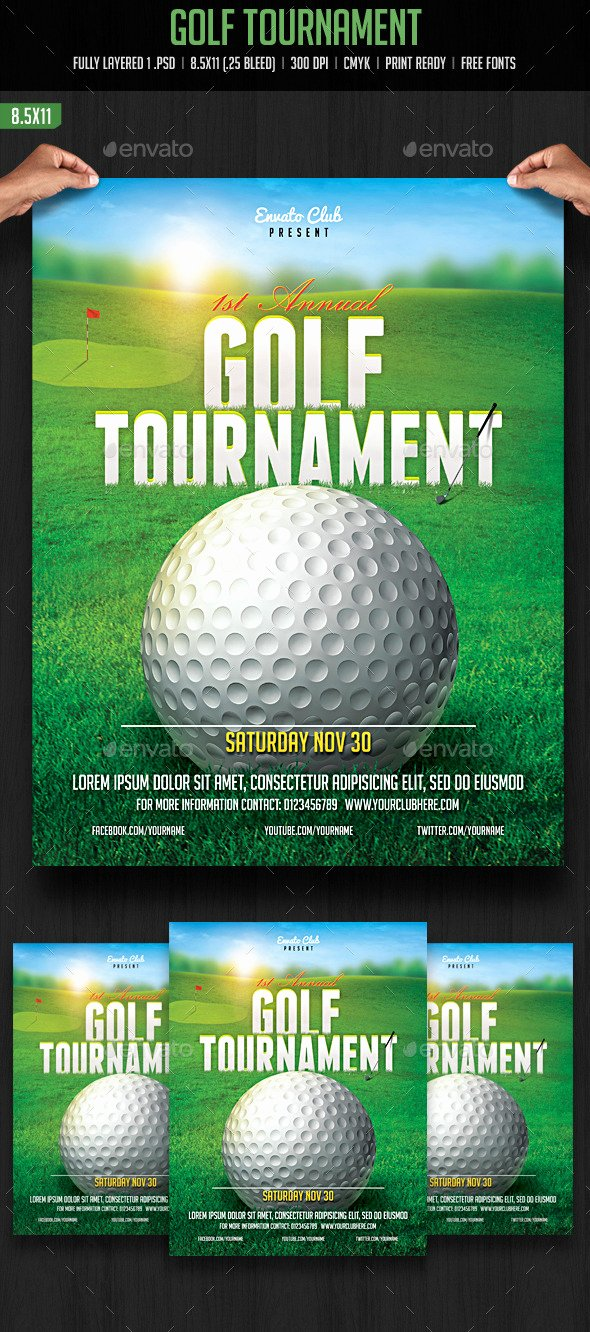 Golf tournament Flyer by Creativeartx
