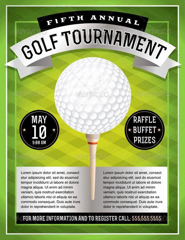 Golf tournament Flyer by Enterlinedesign