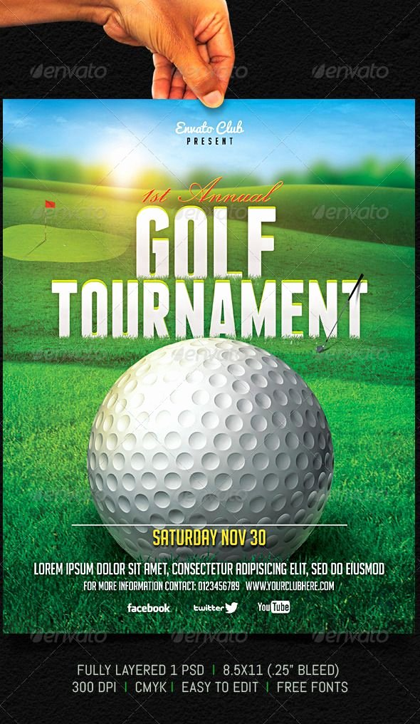 Golf tournament Flyer Graphicriver Fully Layered 1 Psd