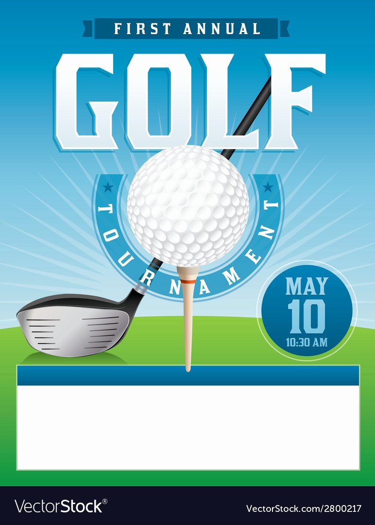 Golf tournament Flyer Royalty Free Vector Image