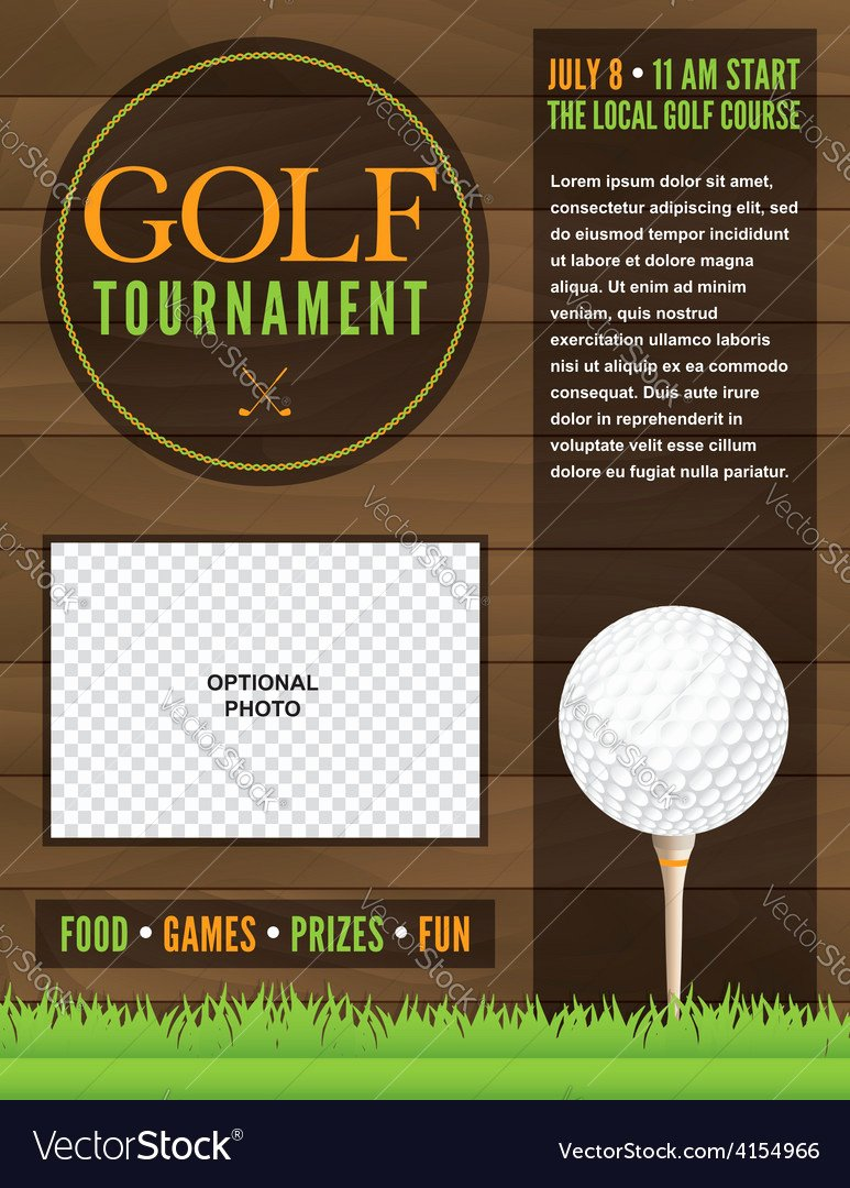 Golf tournament Flyer Template Royalty Free Vector I with