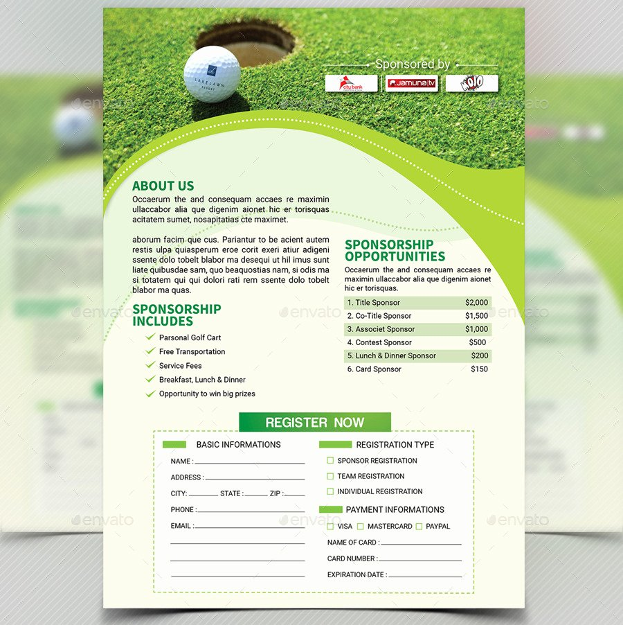 Golf tournament Flyer Template V4 by Aam360