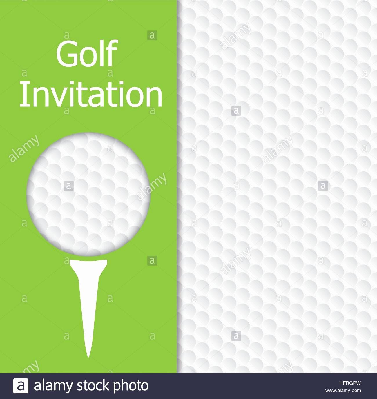 Golf tournament Invitation Graphic Design the Design