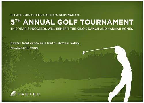 Golf tournament Invitation Template Invitation Template