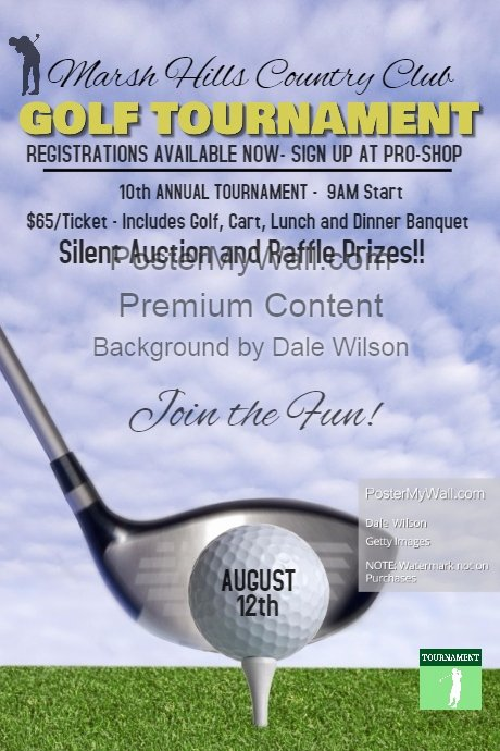 Golf tournament Poster Template
