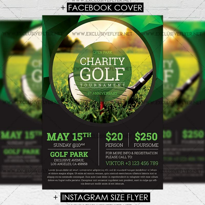 Golf tournament – Premium A5 Flyer Template