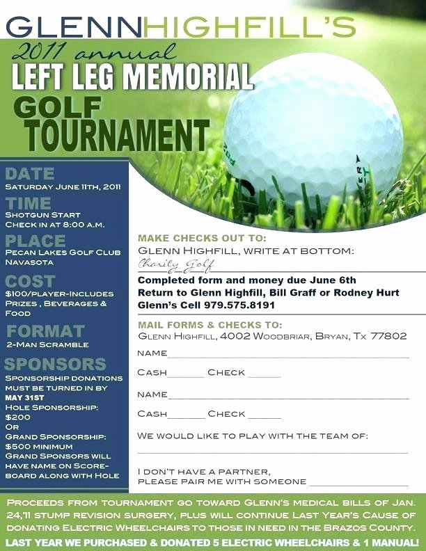 Golf tournament Registration Template – Russdfo