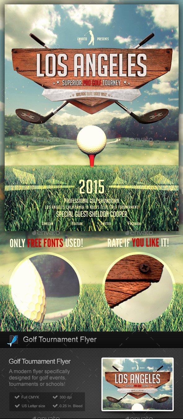 Golf tournament School Flyer Template by Stormdesigns
