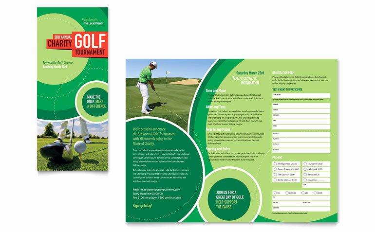 Golf tournament Tri Fold Brochure Template Word & Publisher