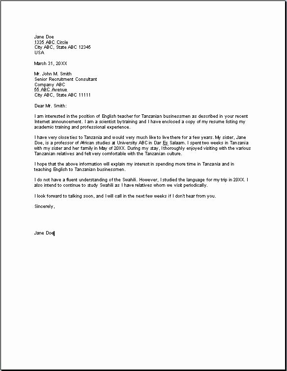 Good Cover Letters Examples Interview Cover Letter Example